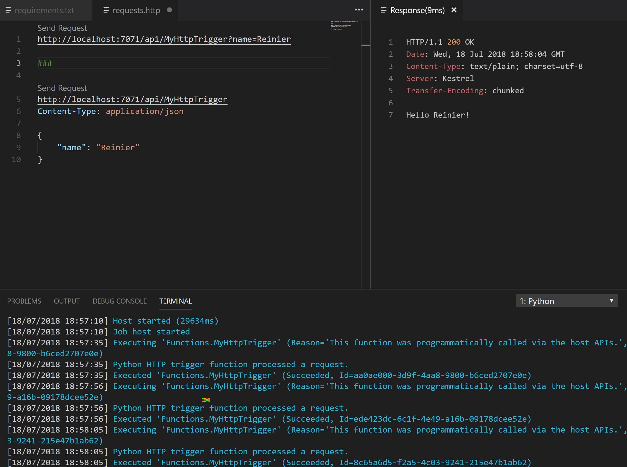 Python Azure Function with Visual Studio Code | r-vm com