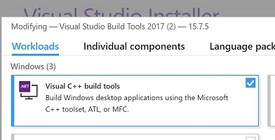 Visual C++ Build Tools