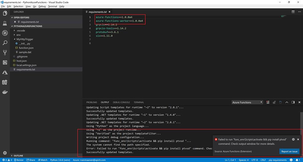 Python on Azure Functions - Round 2 | r-vm com